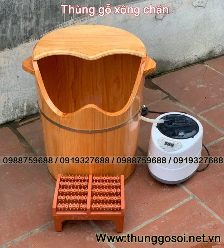 thùng xông chân gỗ giá rẻ