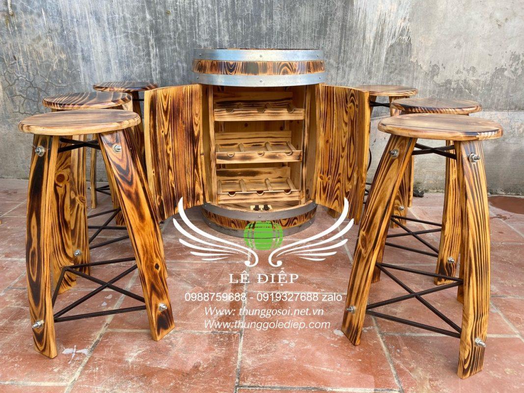bàn ghế trang trí quán cafe