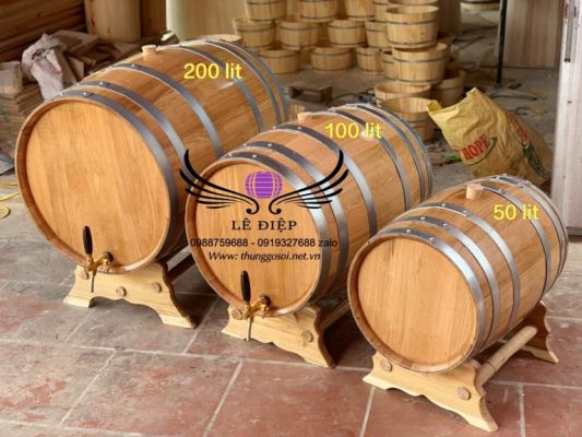 bom ngâm rượu gỗ sồi