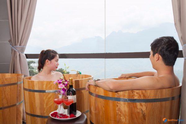 bồn tắm gỗ cho hotel