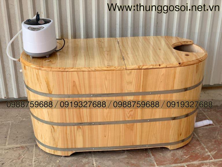 bồn xông hơi bằng gỗ pơ mu