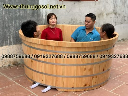 bán bồn tắm gỗ pơ mu nhật