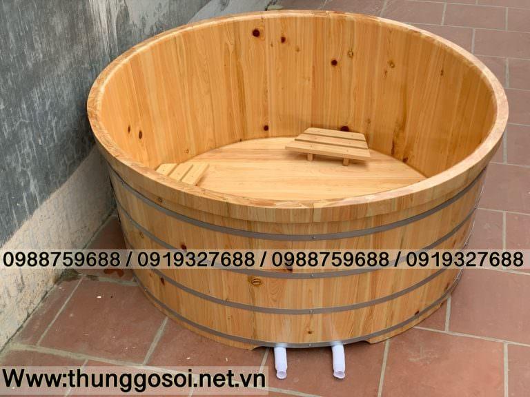 bồn tắm gỗ pơ mu cho resort