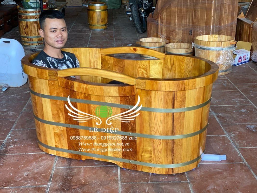 thùng tắm kiểu nhật gỗ