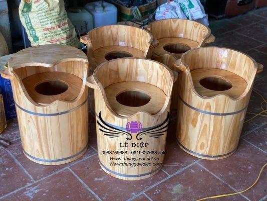 bán thùng gỗ xông âm đạo