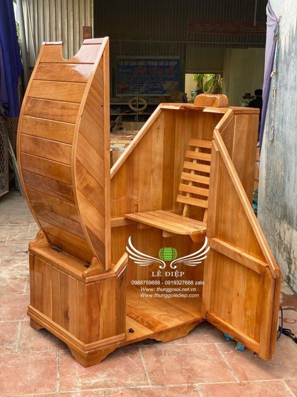 cabin xông hơi gỗ pơ mu