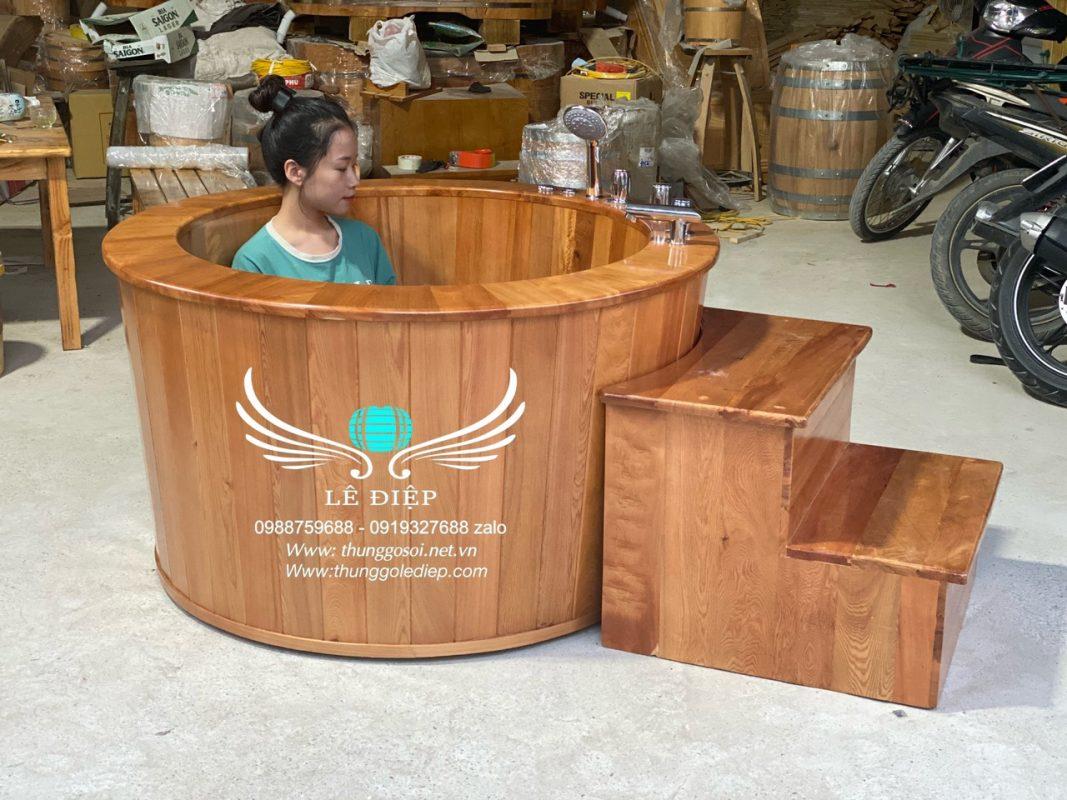 bán bồn tắm gỗ sục massage