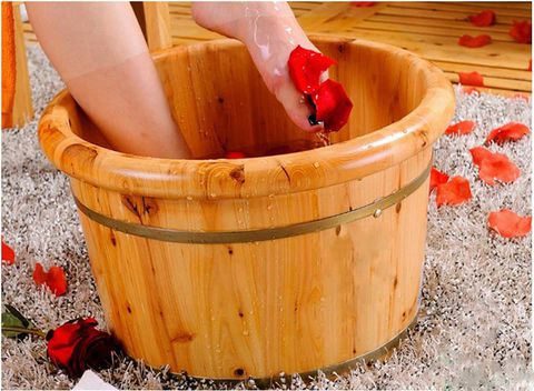 chậu ngâm chân bằng gỗ