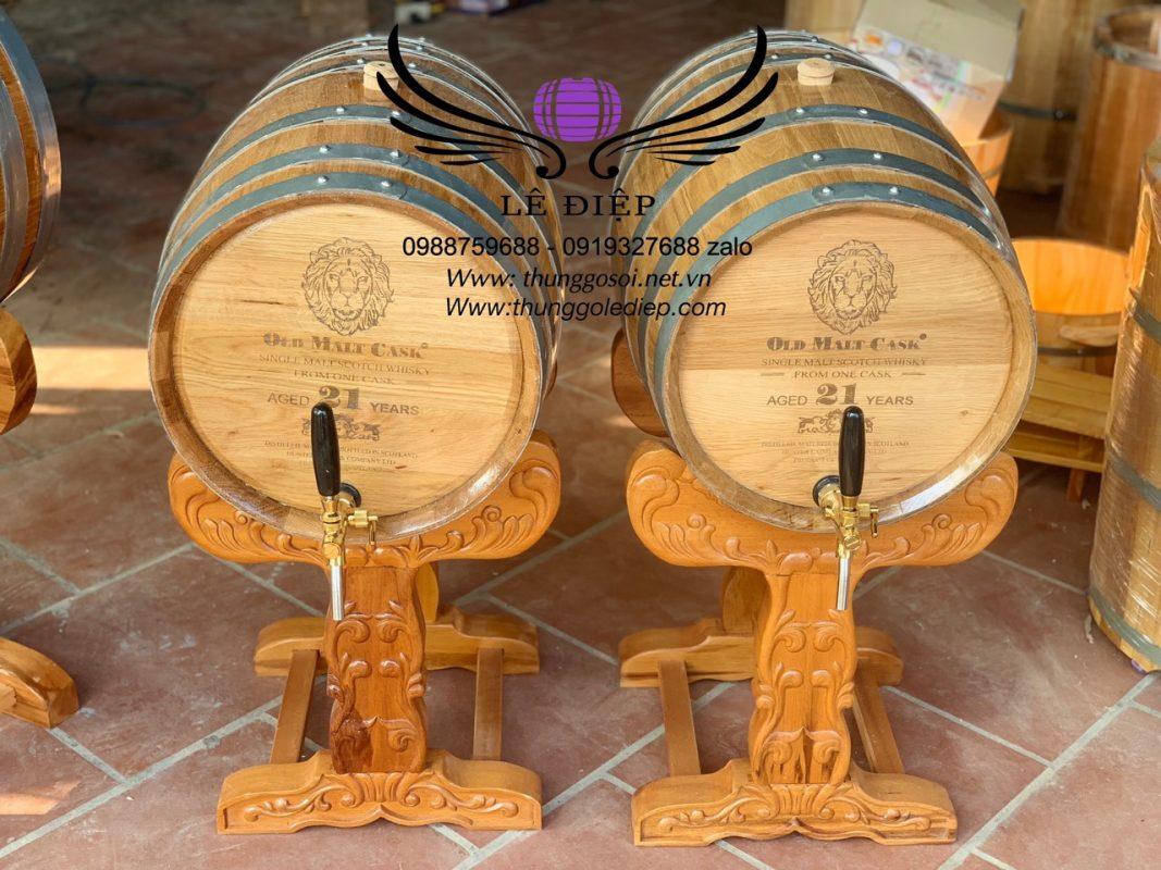 thùng rượu gỗ sồi cao cấp