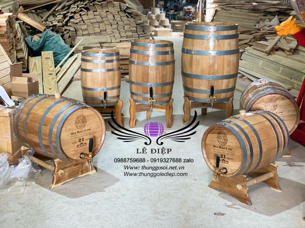 bán thùng gỗ sồi đựng ủ rượu