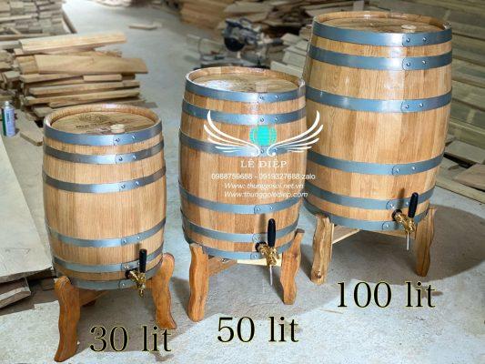 bán thùng ngâm rượu gỗ sồi