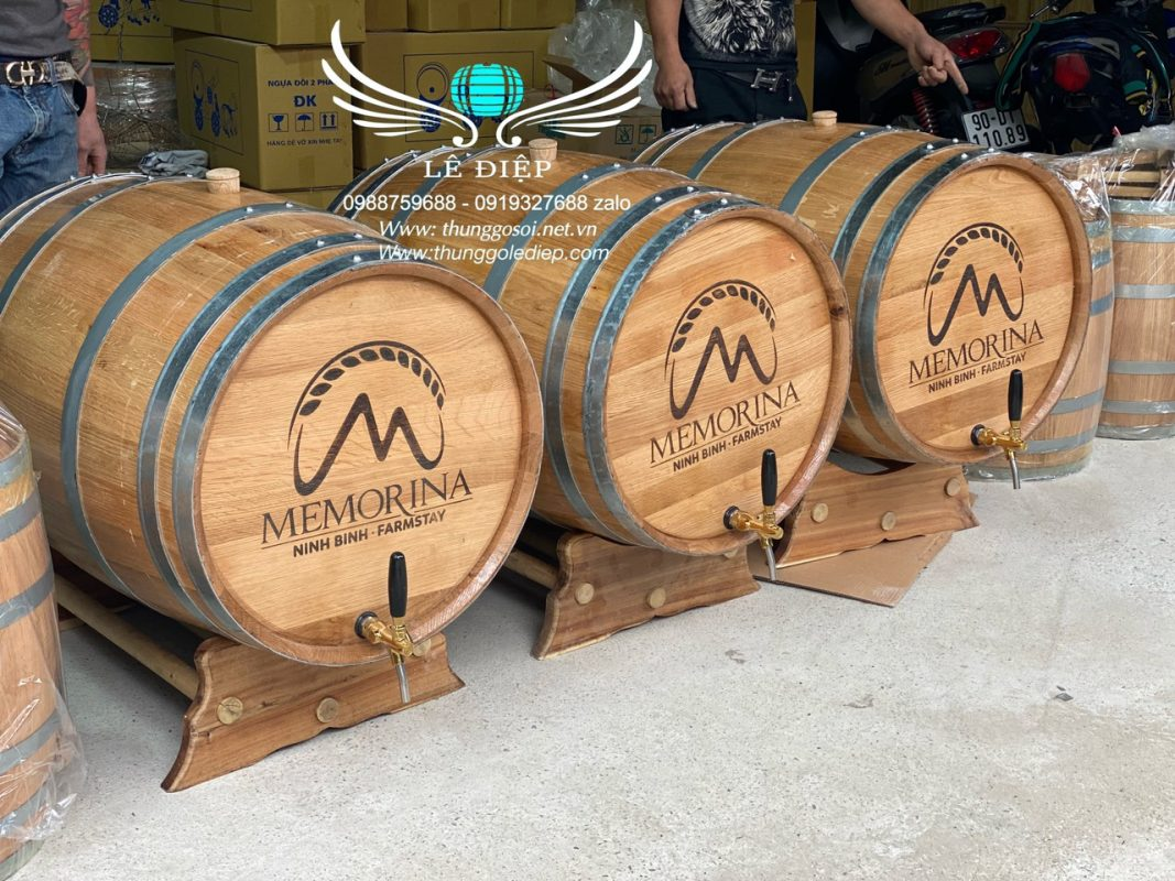 bom ủ rượu gỗ