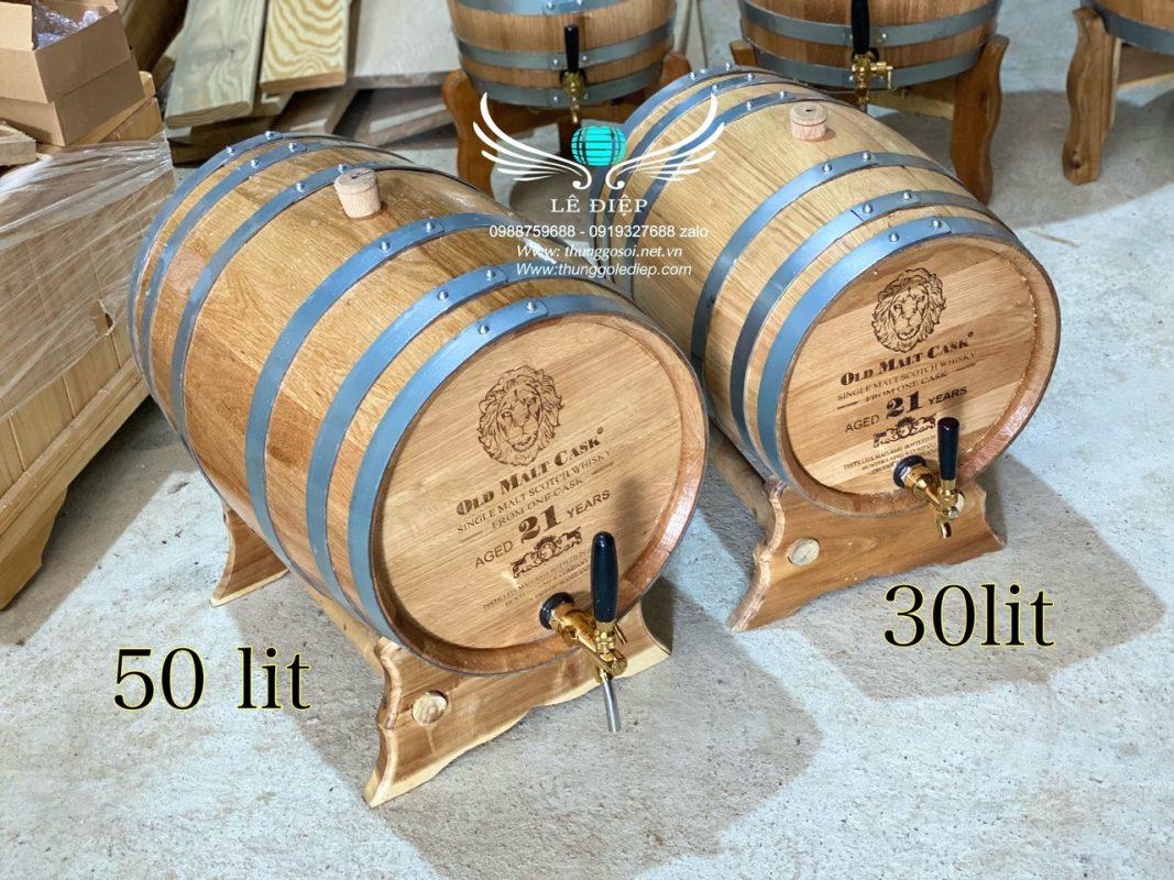thùng rượu gỗ sồi giá rẻ